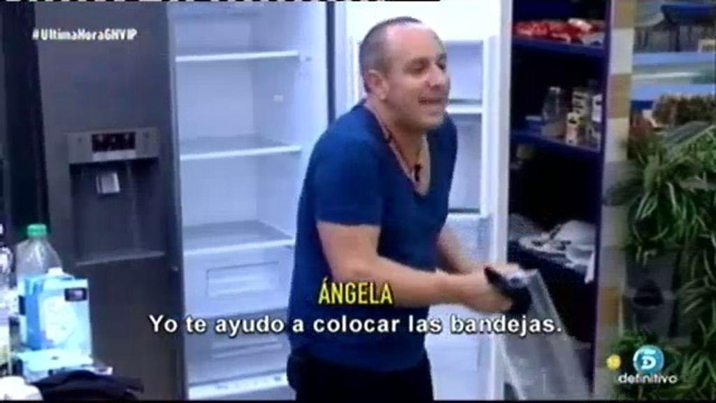 """Víctor y Ángela, enfrentados por el frigorífico: """"¿ya has limpiado la nevera?"""""""