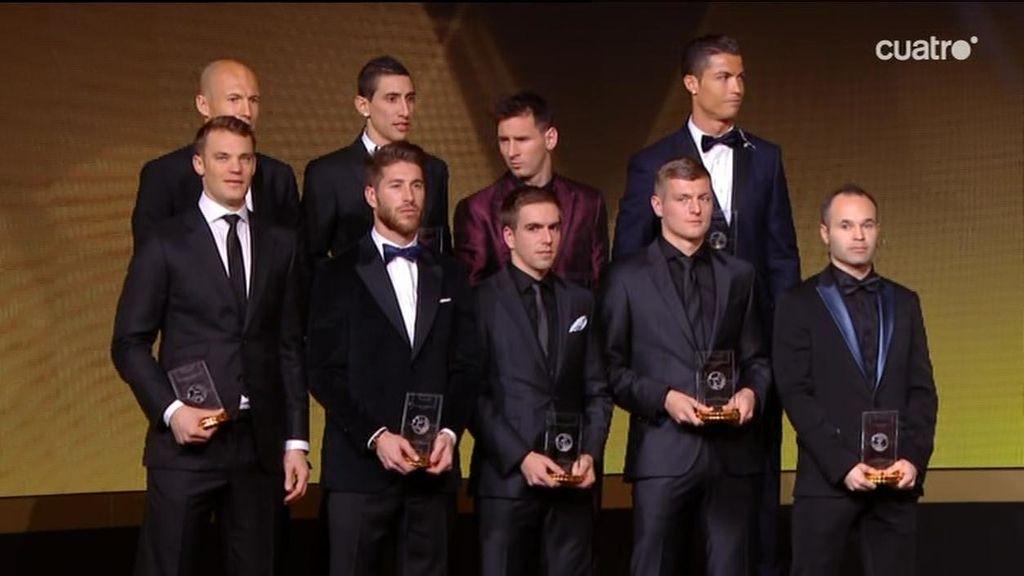 Sergio Ramos, Iniesta, Kroos, Cristiano y Messi, en el XI ideal de la FIFA en 2014
