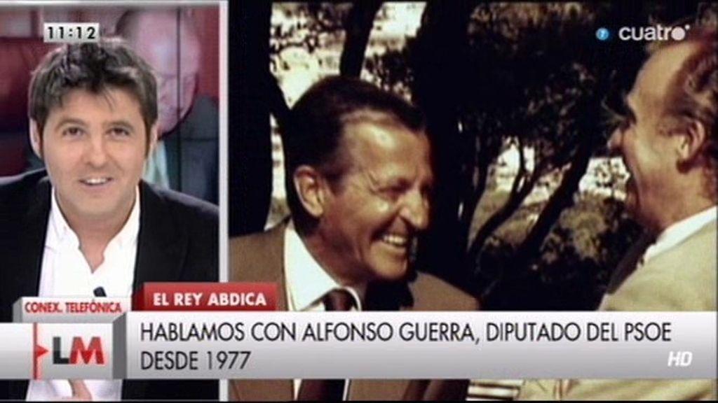 """Alfonso Guerra: """"No es acertado hablar ahora de República"""""""