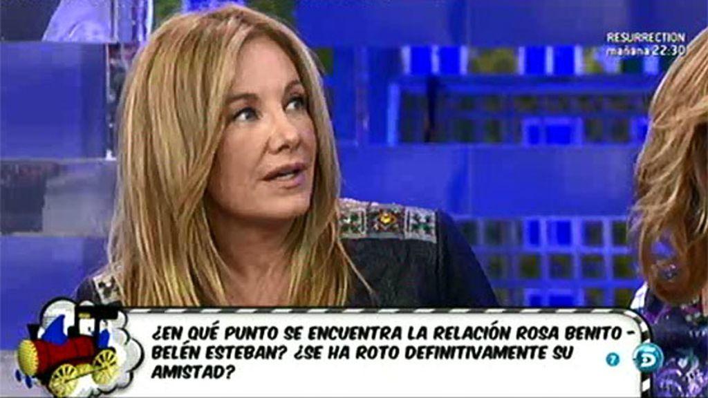 """Belén Ro, sobre la polémica de Rosa: """"Creo que se nos ha ido de las manos a todos"""""""