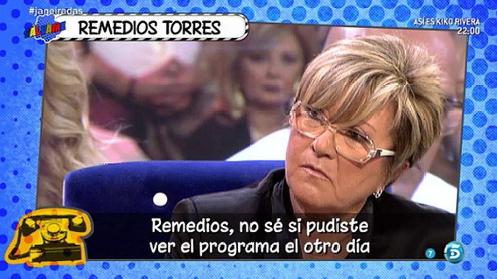 """Remedios Torres, sobre Belén Esteban: """"Ya era hora que tuviera esa actitud"""""""