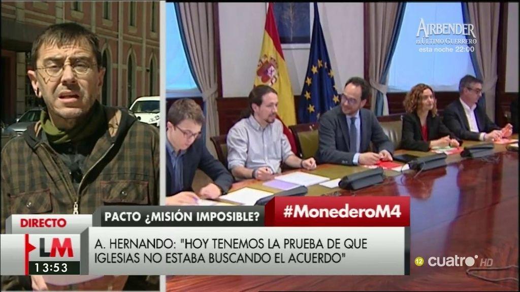La entrevista de Monedero, a la carta