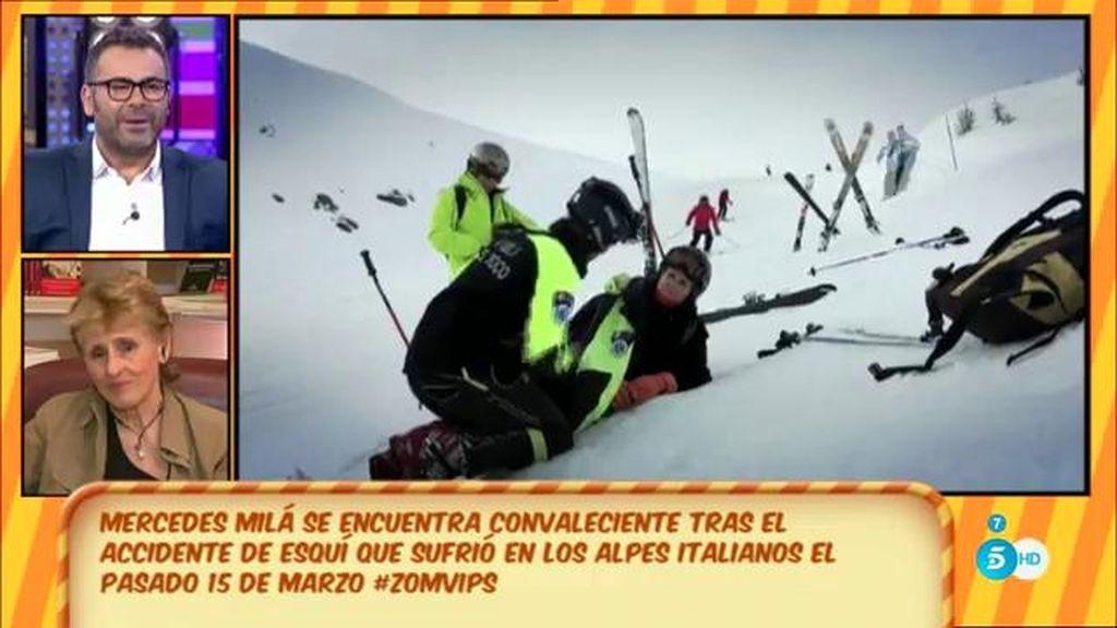 """Mercedes Milá, de su accidente esquiando: """"La sonrisa es vital"""""""