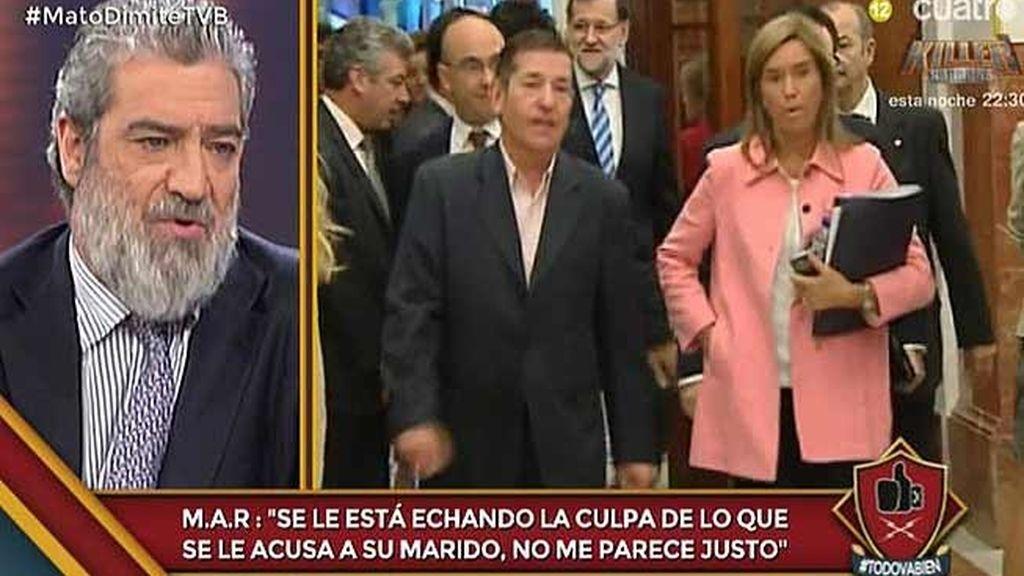 """M.A. R: """"A Rajoy no le convenía tener a Ana Mato en la debate sobre corrupción"""""""