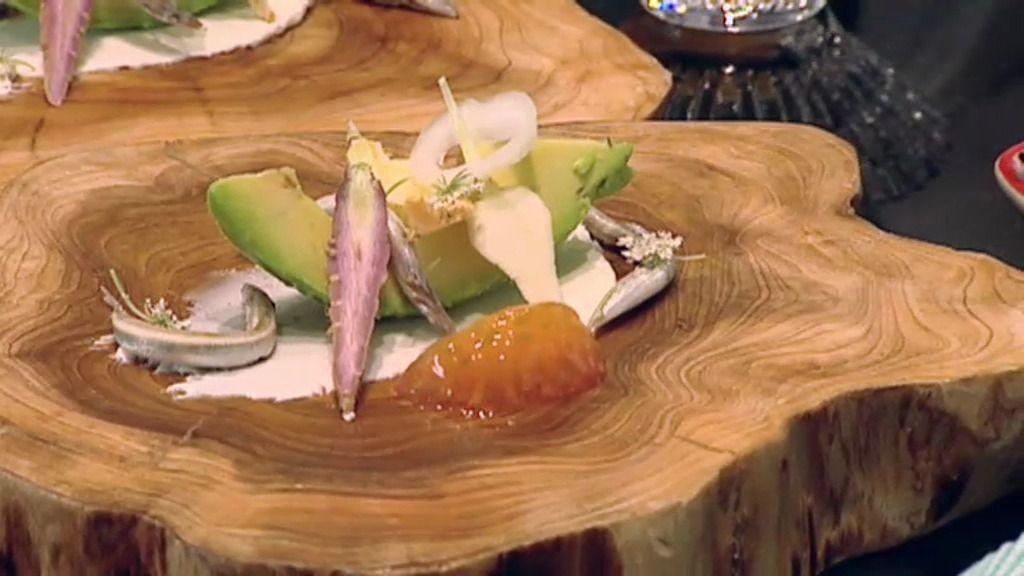 La receta de Paco Morales: Tubérculos con pez aguja y crema de queso de cabra