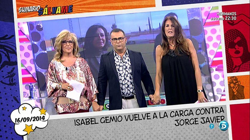 Jorge Javier hace que el público se levante para hablar de Isabel Gemio