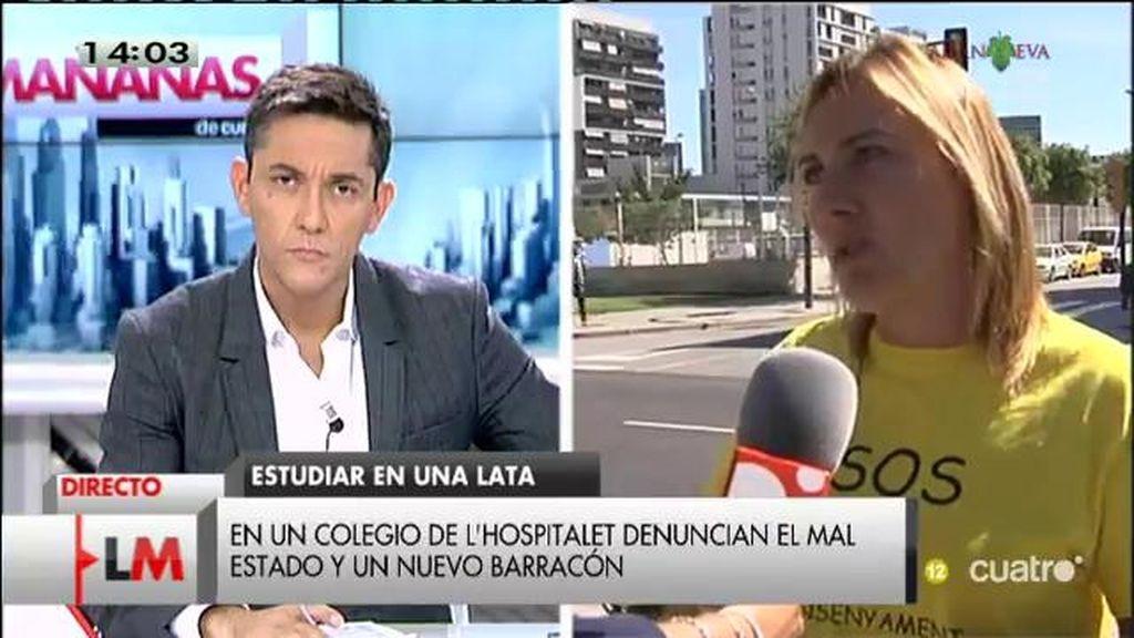 Las familias de los niños del colegio Paco Candel denuncian que llevan 5 años en barracones