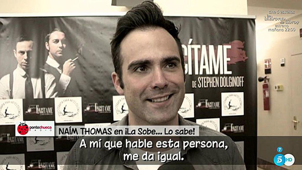 """Naím Thomas contesta a Abad: """"Prefiero ser un payaso pero con la conciencia tranquila"""""""