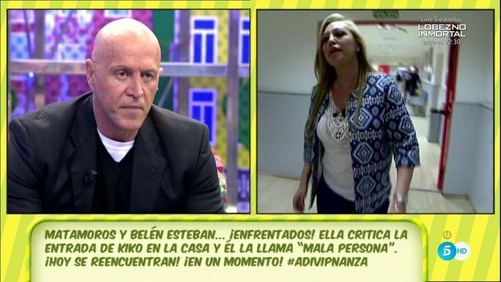 Belén Esteban, indignada, corre a plató para responder a Kiko Matamoros