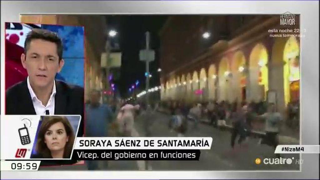 """Sáenz de Santamaria: """"El riesgo cero en España no existe, pero tenemos capacidad de luchar contra el terrorismo"""""""