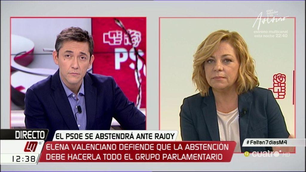 """Valenciano: """"Es menos malo dejar gobernar a la lista más votada que ir a elecciones"""""""