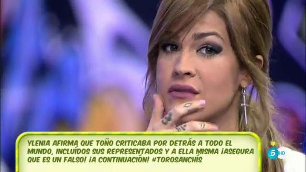 """Ylenia, de la entrevista de T. Sanchís: """"Tira muchos balones fuera y no dice nada"""""""