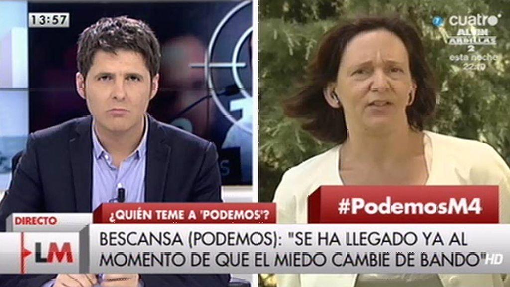 """C. Bescansa: """"Es necesario que el debate sobre ETA no se utilice como arma arrojadiza"""""""