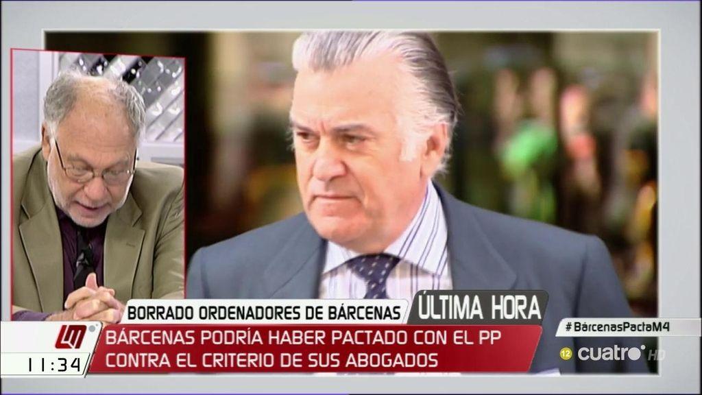 Exclusiva: Bárcenas niega pacto con el PP y aduce motivos económicos para retirar la denuncia por la destrucción de los discos
