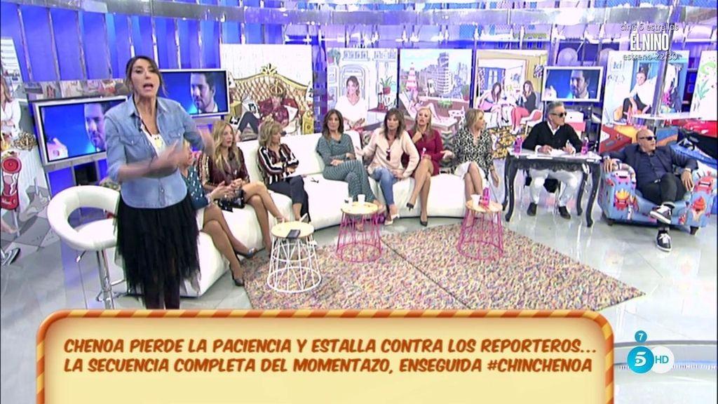 Paz Padilla se toma como una provocación las preguntas de la prensa a Chenoa