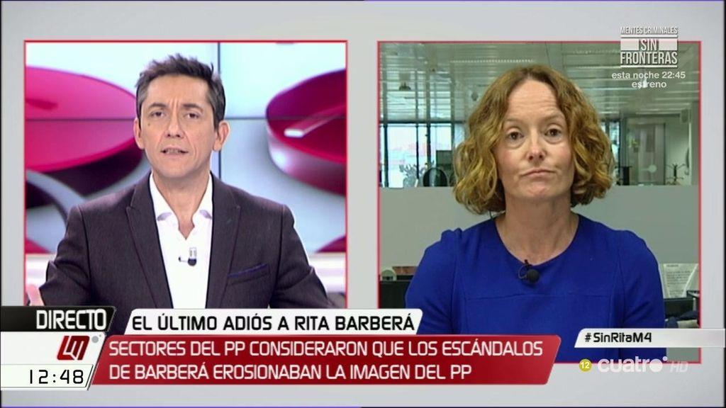 """La periodista Marisol Hernández asegura que """"hay un poco de mala conciencia en general en el PP"""" por Rita Barberá"""