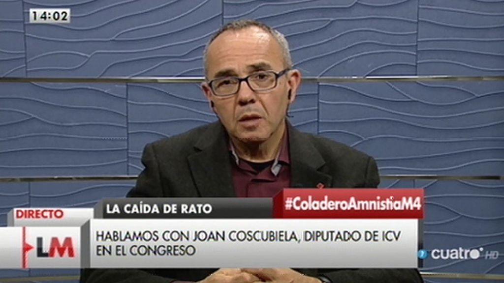"""Coscubiela: """"sin información, sin transparencia, la democracia es débil"""""""