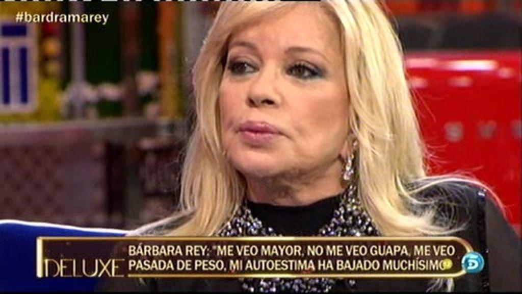 """Bárbara Rey: """"No me veo guapa, mi autoestima ha bajado muchísimo"""""""