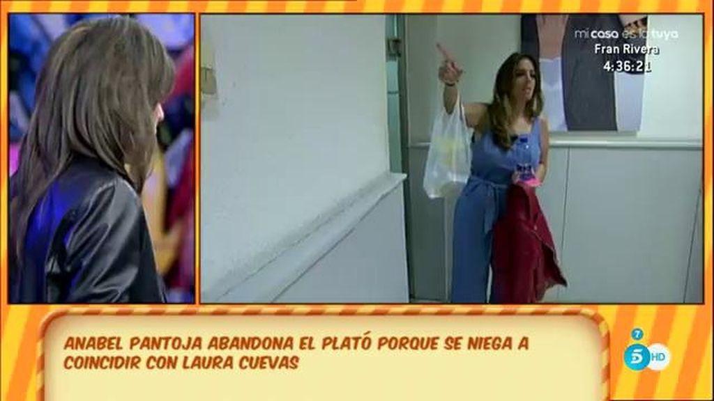 Anabel Pantoja abandona el plató de 'Sálvame' para no coincidir con Laura Cuevas