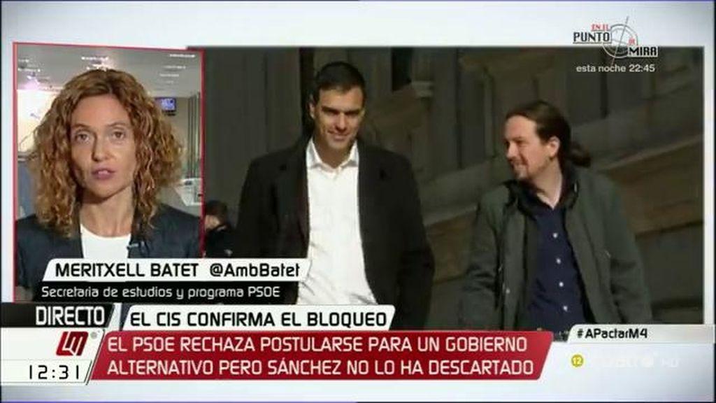 """M. Batet, de un acuerdo: """"Lo intentamos y el problema fue la incompatibilidad declarada de Podemos y Ciudadanos"""""""