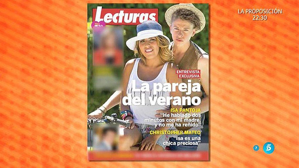 Chabelita y Christopher, la pareja del verano en la revista 'Lecturas'