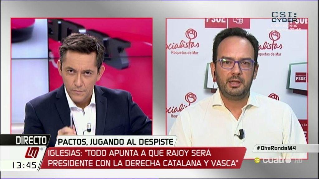 """A. Hernando: """"Los votos no llegan a las urnas con las cigüeñas, los independentistas y nacionalistas metieron el votito"""""""