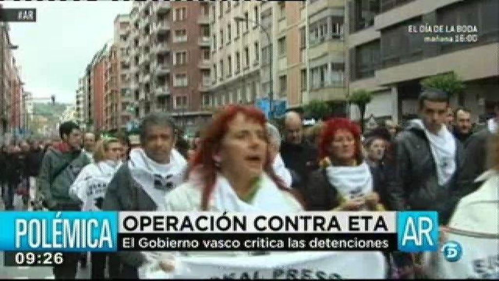El Gobierno vasco critica la operación contra ETA