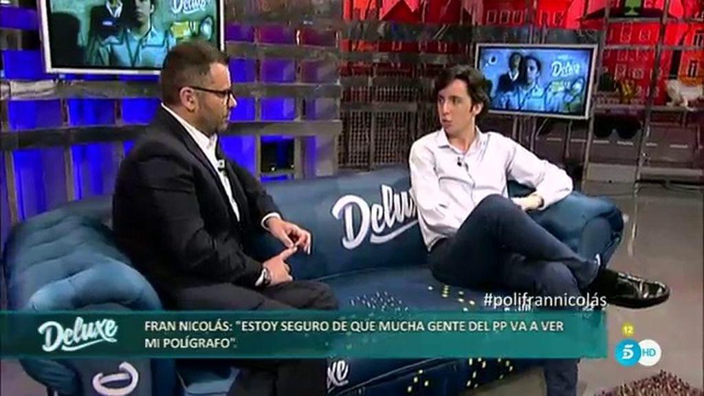 """Fran Nicolás: """"Seguro que alguien del PP estará viendo el programa"""""""