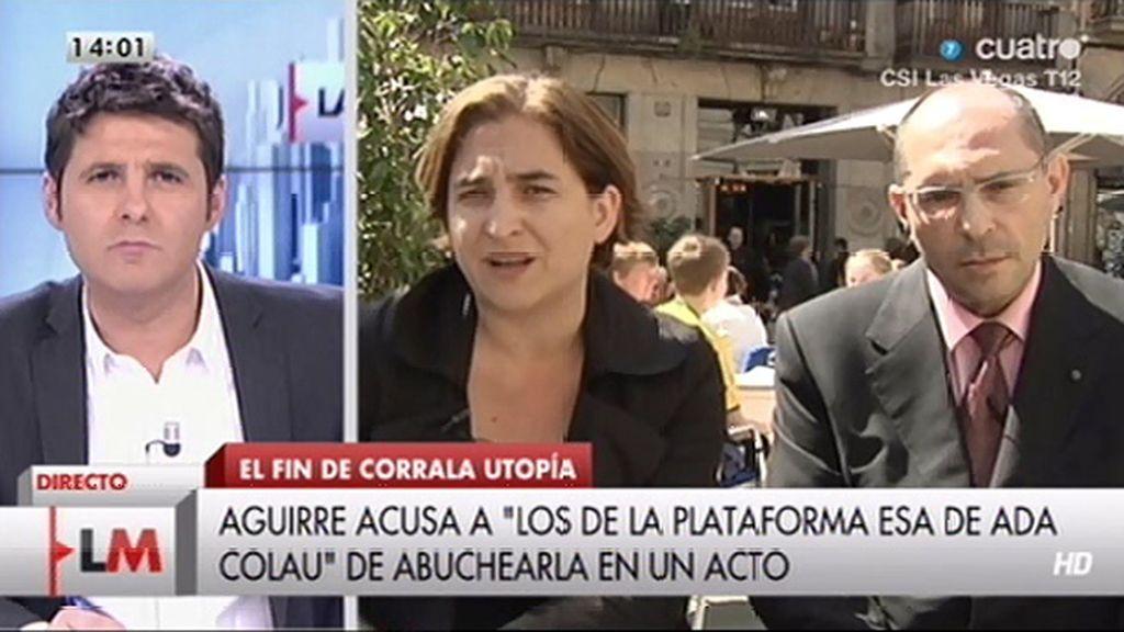 """Ada Colau, sobre Esperanza Aguirre: """"Estas tonterías no merecen ni respuesta"""""""
