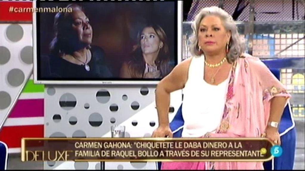 "Carmen Gahona: ""Creo que Raquel Bollo sigue enganchada a Chiquetete"""