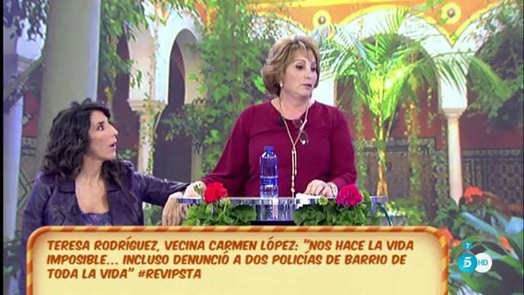 """Teresa, vecina de C. López: """"Nos denunció por regar mis plantas con agua de la comunidad"""""""