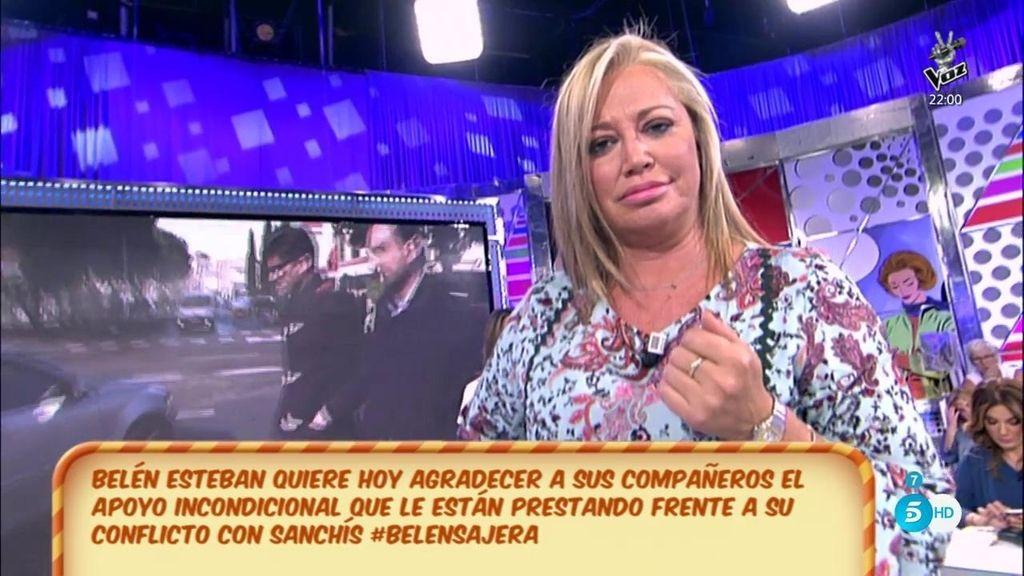 """Belén Esteban, a Toño Sanchís: """"Cuando pueda, hablaré"""""""