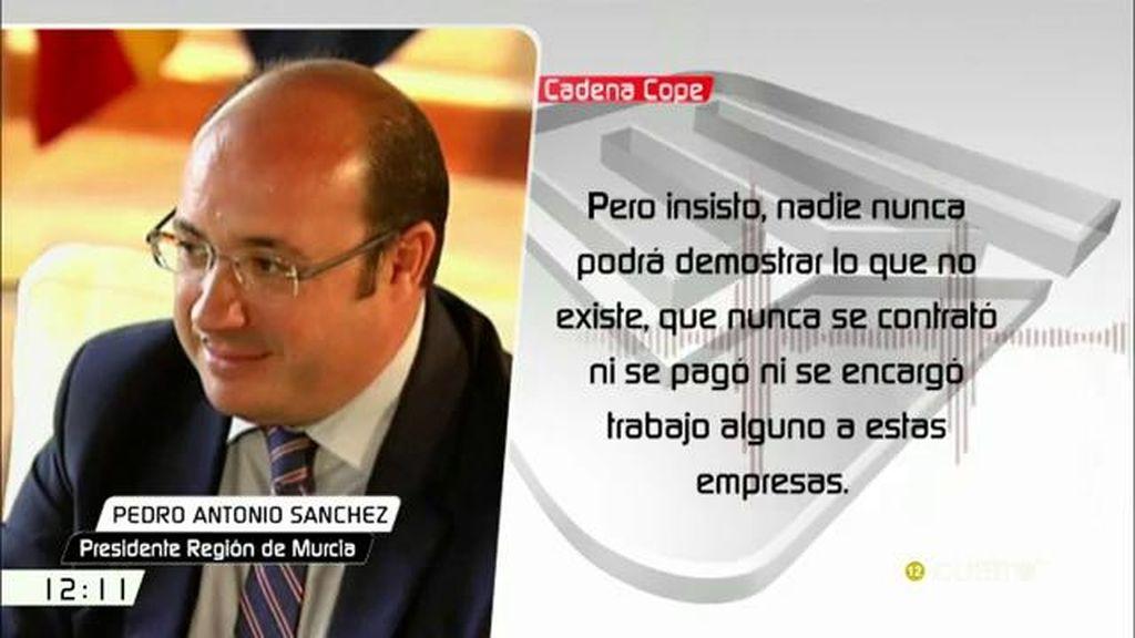 """Pedro Antonio Sánchez: """"Nunca nadie podrá demostrar lo que no existe"""""""