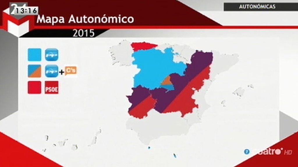 ¿Cómo quedaría el mapa autonómico?