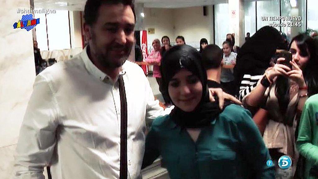 Emotivo reencuentro de Shaima con su padre