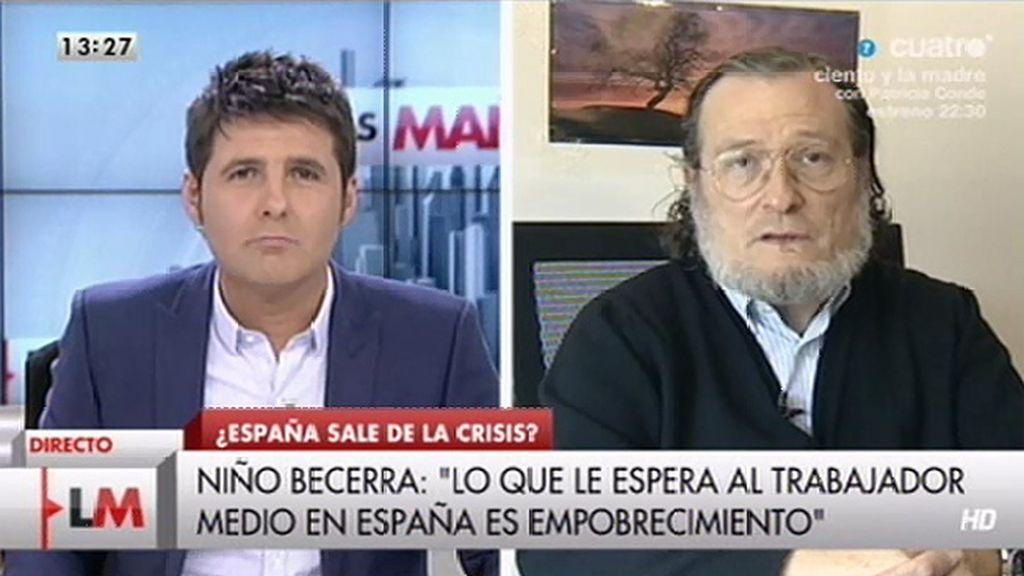 """Niño Becerra: """"Creo que a partir de 4 o 5 años veremos recortes en pensiones"""""""