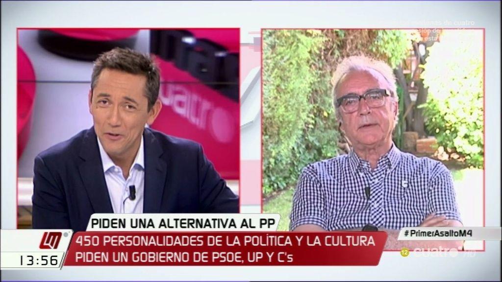 """Juan José Millás: """"Lo que no puede ser es que el hambre cotice en bolsa"""""""