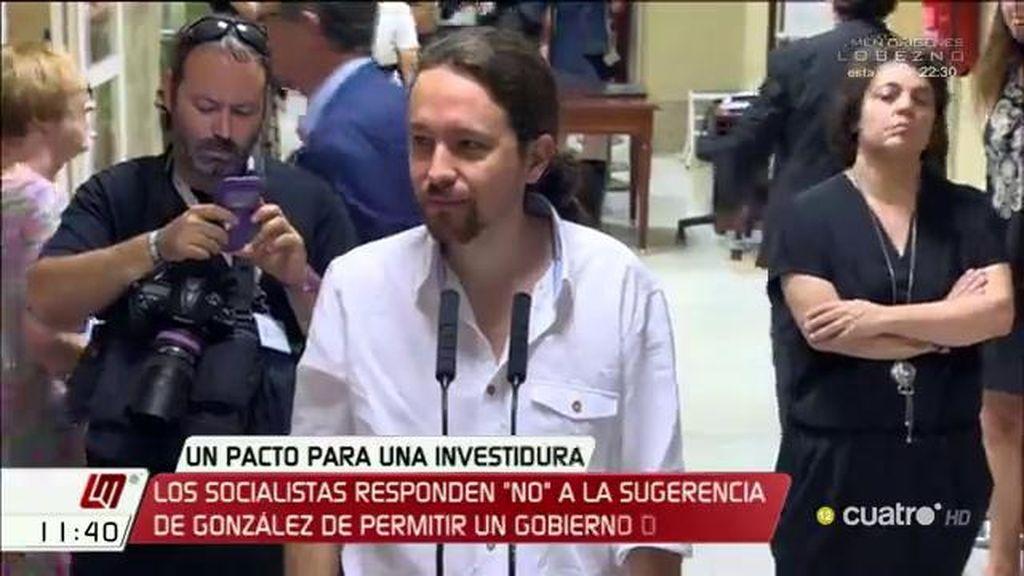"""""""Si Unidos Podemos, PSOE, las fuerzas catalanas y vascas llegan a un acuerdo, podría haber un gobierno diferente al del PP"""""""