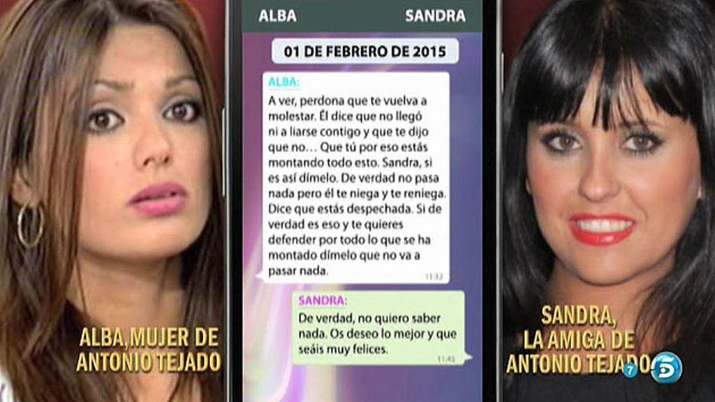 """Alba pone a prueba a Sandra: """"Si estás mintiendo, dímelo que no pasa nada"""""""