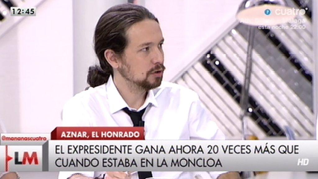 """Pablo Iglesias: """"Algunos han utilizado la política para forrarse"""""""
