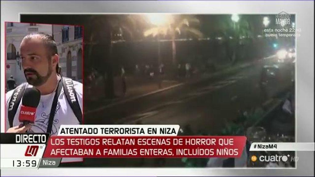 """""""Había policía apuntando a la gente, decían que el terrorista no estaba solo"""""""