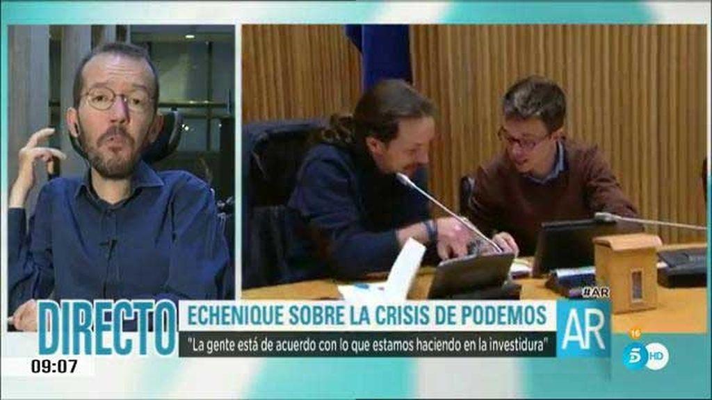 """Echenique: """"Recuerdo pocos momentos de tanto consenso en Podemos"""""""