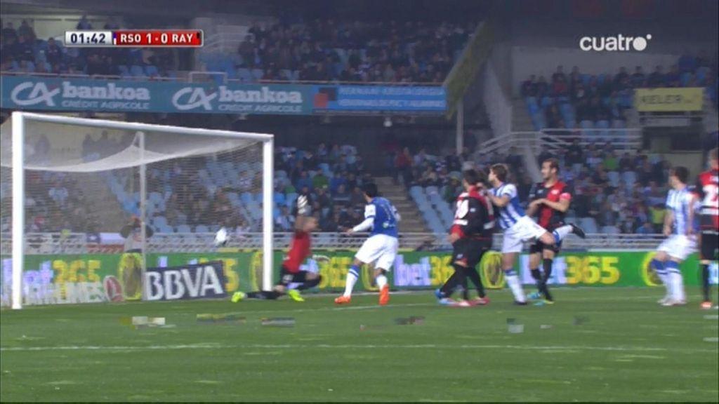 Gol de I. Martínez (Real Sociedad 1-0 Rayo)