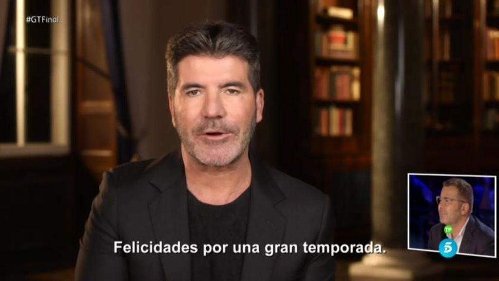 """Simon Cowell, creador de 'Got Talent', a J.J. Vázquez: """"Felicidades, una gran temporada"""""""