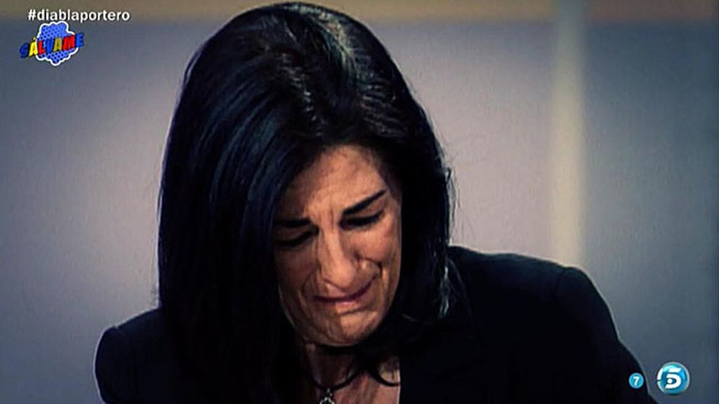 Ángela Portero lloró la muerte de Carmen Ordóñez en 'Salsa Rosa'