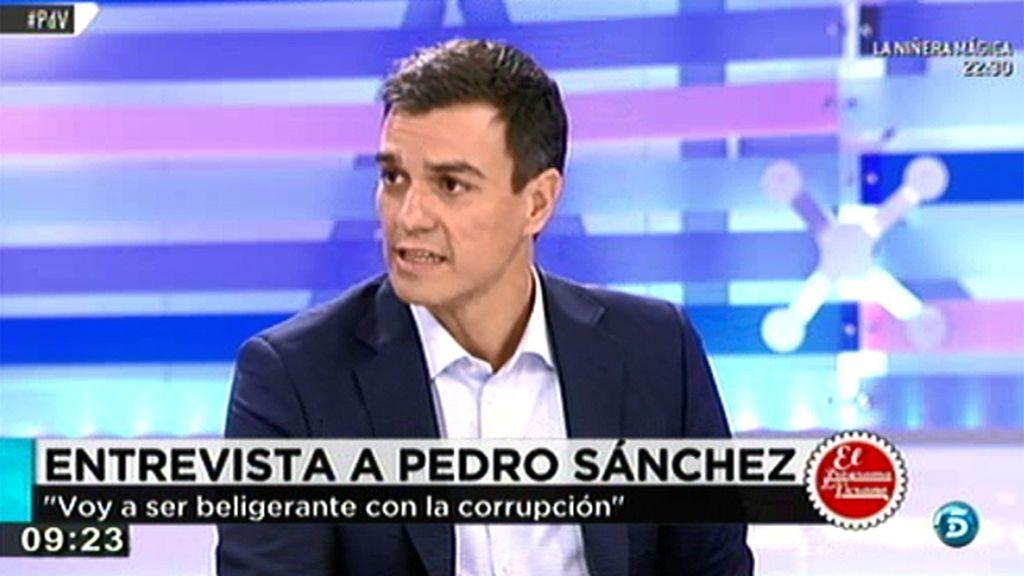"""P. Sánchez: """"Los partidos políticos tienen que ser mucho más transparentes"""""""