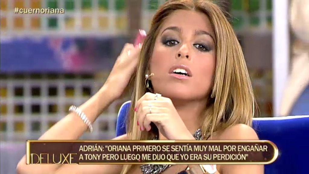 Oriana confirma que cuando conoció a Adrián acababa de operarse los pechos
