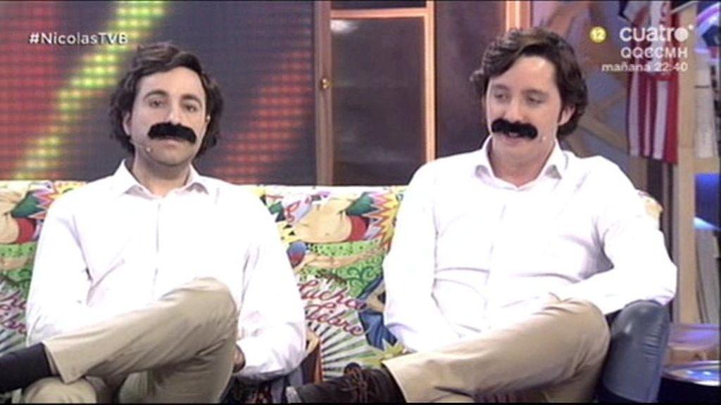 Francisco Nicolás y su doble imitan a José María Aznar en 'Todo va bien'