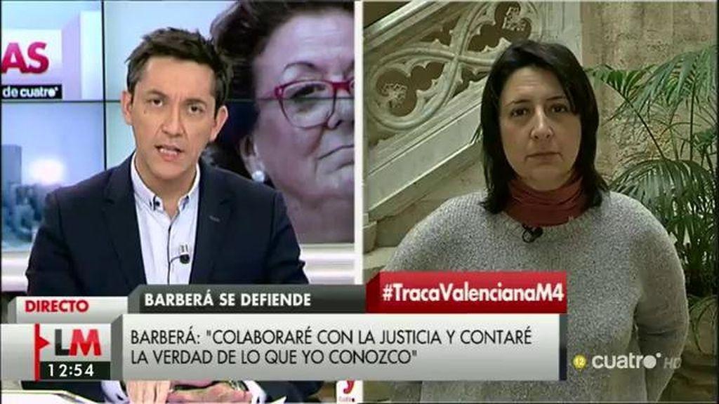 """Rosa Pérez, de Barberá: """"Está muy bien y, en lugar de dar ruedas de prensa, que vaya al juez de manera voluntaria y explique"""""""