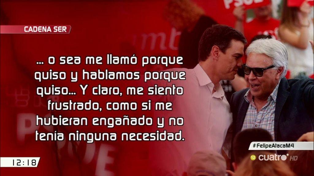 "Felipe González: ""Me siento frustrado, como si me hubieran engañado"""